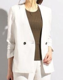 絶対零度1 本田翼衣装の白のノーカラージャケット