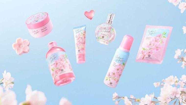 ハウスオブローゼ【2021桜コスメ】さくらの形で出るボディホイップムースやハートのカプセル入浴剤
